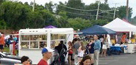 Vendors, food trucks, tents, stands, crafts, jewelry, products, more
